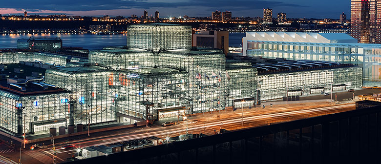 WMIC Jacob Javits Center at night